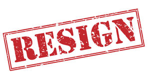 Resign red stamp Stock Image