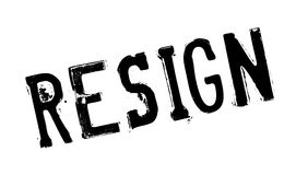 Resign rubber stamp Royalty Free Stock Photo
