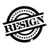 Resign rubber stamp Stock Image