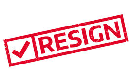 Resign rubber stamp Stock Photography