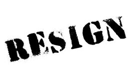 Resign rubber stamp Royalty Free Stock Images