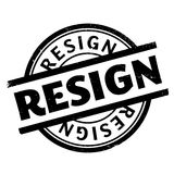 Resign rubber stamp Stock Photos