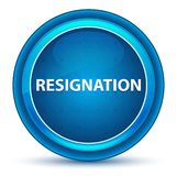 Resignation Eyeball Blue Round Button vector illustration