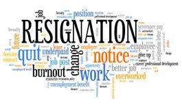 Resignation Royalty Free Stock Images