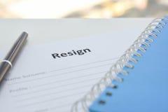 Resignation Letter Stock Photography