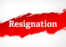 Resignation Red Brush Abstract Background Illustration vector illustration