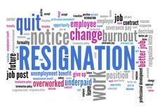 Resignation Royalty Free Stock Photography
