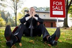 Resigned house agent Stock Photo