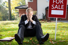 Resigned real estate broker royalty free stock image