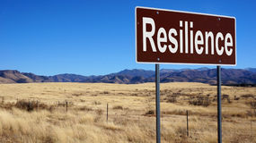 Resilience brown road sign Royalty Free Stock Images