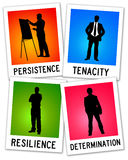 Resilience determination. Soft skills in career and life Stock Images
