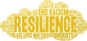 Resilience Word Cloud Stock Photos