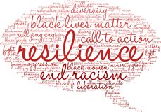 Resilience Word Cloud Stock Images
