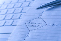 Resilient network diagram Stock Photography