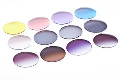 Resin glass for spectacles close up Stock Photo