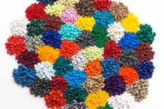 Resina plástica teñida del polímero Imagen de archivo