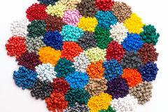 Resina plástica tingida do polímero Imagem de Stock