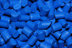Resina termoplástica azul Imágenes de archivo libres de regalías