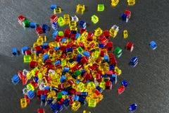 Resina tingida do polímero na folha de metal Foto de Stock Royalty Free