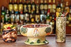 Resipes exotiques des cocktails Photos libres de droits