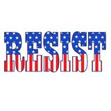Resist typography with stars and stripes  graphic Royalty Free Stock Images