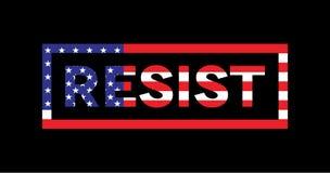 Resist Word Slogan American Flag Theme Illustration Royalty Free Stock Photo