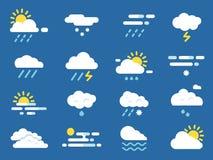 Resista ao jogo do ícone Símbolos de Meteo Imagens do vetor no estilo liso ilustração do vetor