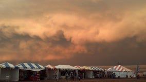 Resista a la escena en el festival de la cometa en la isla del antílope, Utah Imágenes de archivo libres de regalías