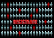 Resistance. Concept image in black background royalty free illustration