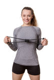 Resistance band training exercises Royalty Free Stock Image