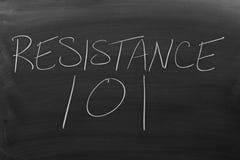 Resistance 101 On A Blackboard Stock Photos