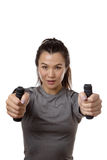 Resistance rubber band training Royalty Free Stock Photo