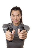 Resistance rubber band training Stock Photo