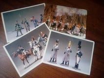 Resistant olovyanye soldiers Stock Photos