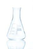 Resistent konisk flaska för temperatur för mätningar 250 ml Arkivbilder
