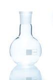 Resistent rund lägenhet-botten för temperatur flaska för mätning Royaltyfria Bilder