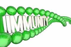 Resistenza alle malattie immune 3d Illustrati di parola del DNA di salute di immunità royalty illustrazione gratis