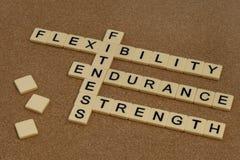 Resistenza, flessibilità, resistenza - forma fisica Fotografia Stock