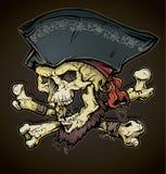 Cabeça do crânio do pirata ilustração do vetor