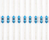 Resistor. S stripe on white stock photography