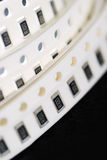 Resistor chip in SMD style Stock Image