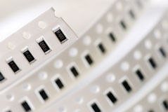 Resistor chip in SMD style Stock Photo