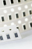 Resistor chip in SMD style Royalty Free Stock Images