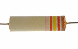 Resistor da eletrônica do vintage imagens de stock royalty free