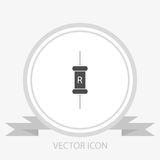 Resistor vector icon Royalty Free Stock Images