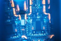 Resistores do microchip dos componentes eletrônicos de Smd imagens de stock