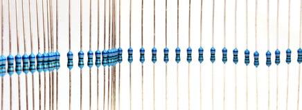 Resistores em uma fileira Fotografia de Stock Royalty Free