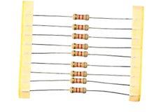 Resistores en el conjunto aislado Imagen de archivo libre de regalías