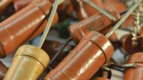 Resistores para arriba cercanos, componentes electrónicos de la resistencia metrajes