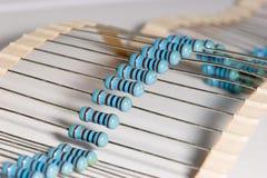Resistors. Photo a few Taped Resistors Royalty Free Stock Photography